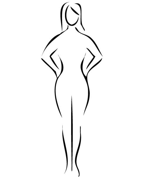 """Tipo de cuerpo """"X"""" o reloj de arena. - Toque de Mujer"""