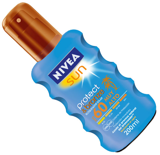 Bloqueador Solar Protect & Bronze Spray de NIVEA