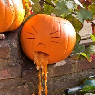 Decoraci n con calabaza para la fiesta de halloween - Decoracion de calabazas ...