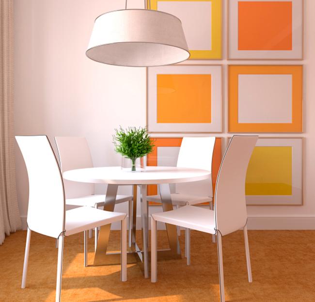 Efecto de los colores en la decoraci n de tu casa comedor for Decoracion hogar naranja