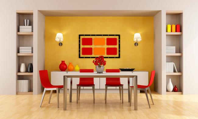 Efecto de los colores en la decoración de tu casa comedor naranja