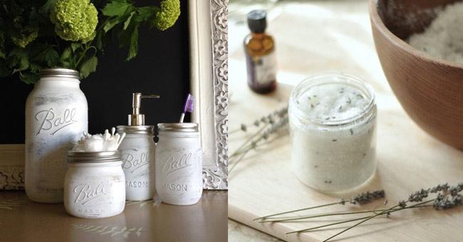 10 formas para reutilizar y decorar frascos de vidrio for Decoracion de frascos de vidrio para cocina