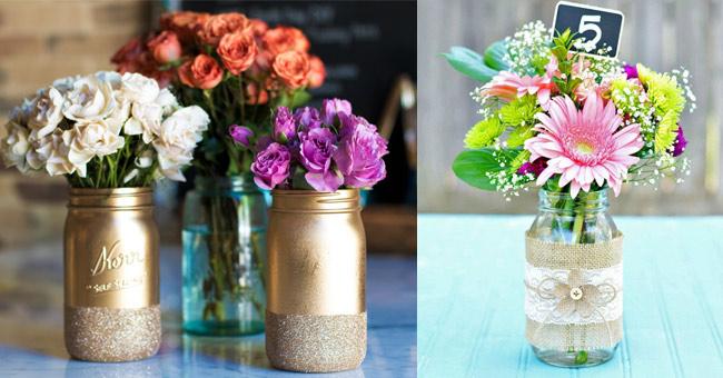 10 formas para reutilizar y decorar frascos de vidrio - Fabrica de floreros de vidrio ...