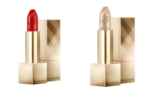 BURBERRY KISSES: Disponibles en dos colores: Military Red No. 109 y Festive Gold No. 120 (tonos de edición limitada), en empaque dorado de edición limitada.