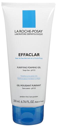 Effaclar de LA ROCHE-POSAY es un gel purificante, libre de jabón y con pH balanceado, ideal para pieles con tendencia al acné.