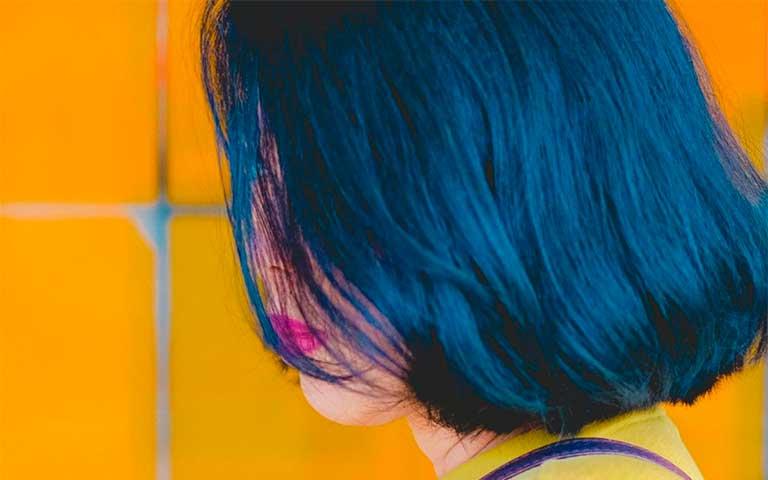significado cabello color azul
