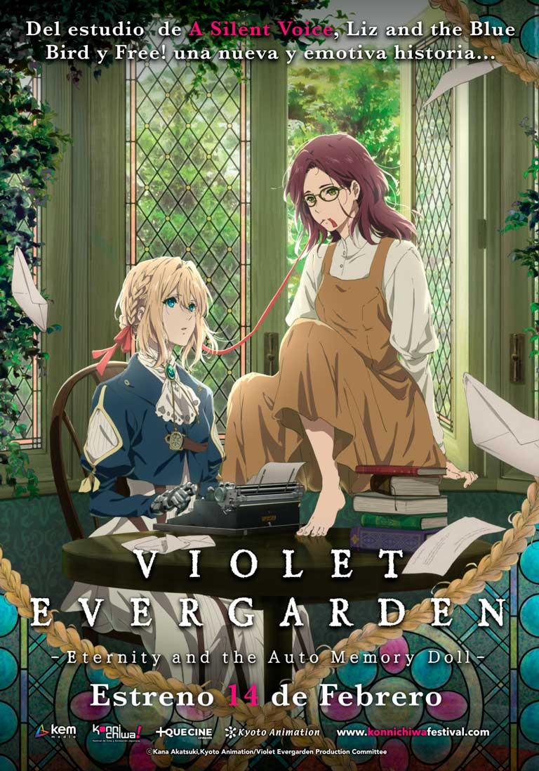 Violet Evergarden: Eternity and Automemory Doll  se presenta en Cinépolis