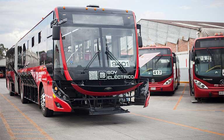 Primer metrobús artíiculado 100% eléctrico en la ciudad de México
