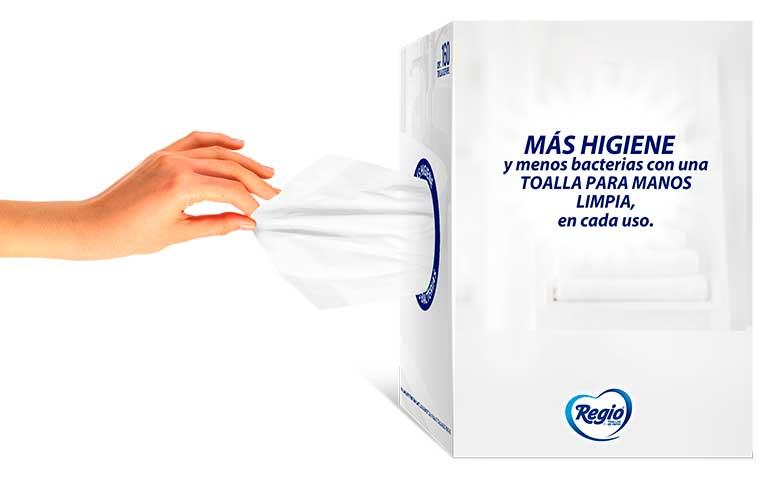 Las toallas desechables de papel garantizan una correcta limpieza de manos