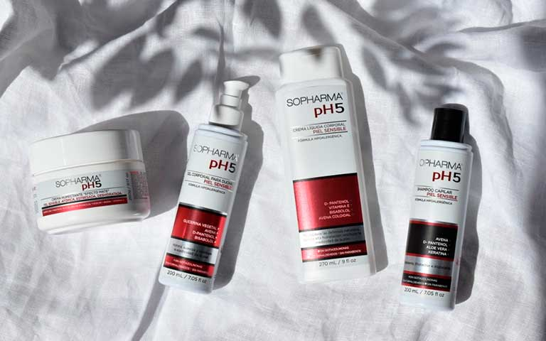 ¿Piel sensible? Recupera su barrera natural con Sopharma pH5